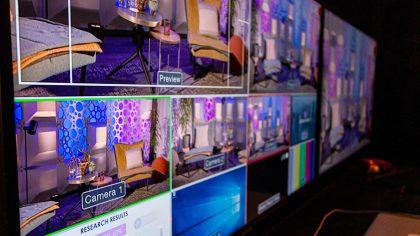 Livestream Studio Afkijkmonitor
